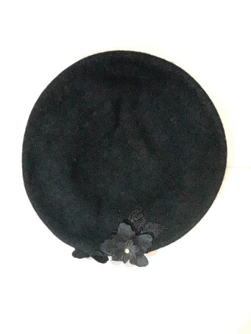AUGUST HAT | כובע ברט אפור פרח אוגוסט הט