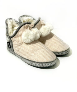 Muk Luks | נעלי בית סרוגות ורודות מאק לאקס