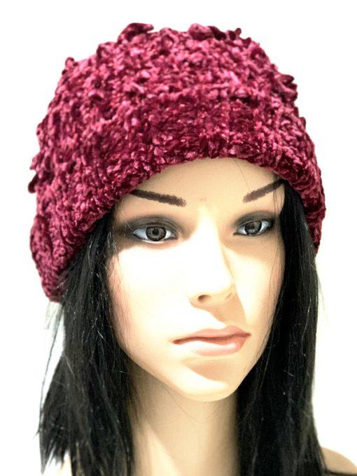 INC | כובע סרוג בורדו איאנסי