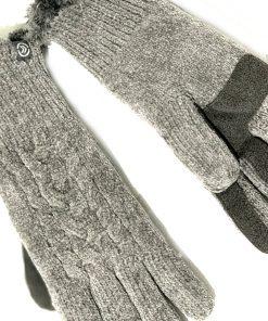 Isotoner | כפפות מגע אפורות לסמארטפון איזוטונר