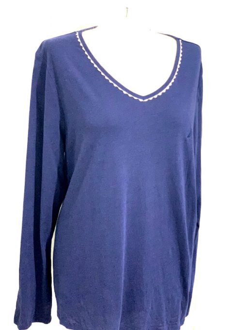 Nautica   חולצה כחולה אוברסייז נאוטיקה