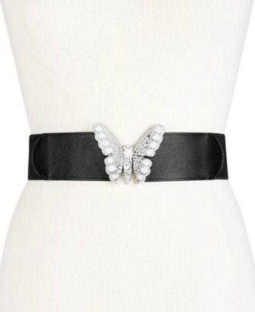 INC | חגורת פרפר יוקרתית שחורה אייאנסי