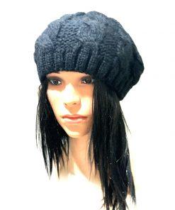 Aqua | כובע ברט שחור אקווה