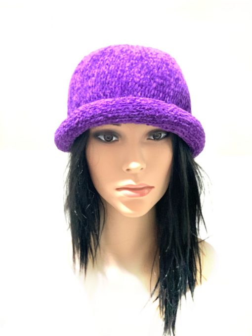 AUGUST HAT | כובע גרב סרוג סגול אוגוסט הט