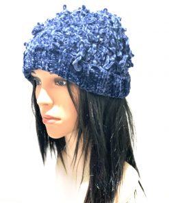 INC | כובע סרוג כחול איאנסי