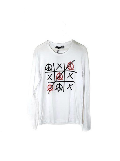 MOSCHINO | חולצה לבנה שרוול ארוך מוסקינו