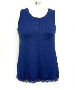 Alfani | חולצה כחולה עם תחרה אלפני