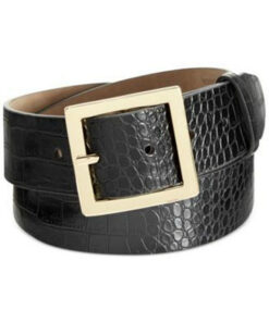 Style   חגורת קרוקו שחורה סטייל