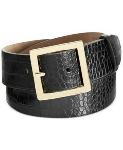 Style | חגורת קרוקו שחורה סטייל