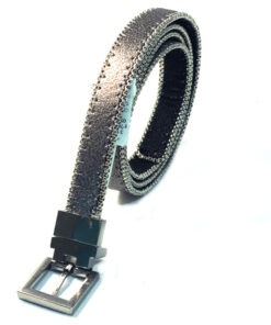 INC | חגורה דו צדדית שחור/כסוף אייאנסי