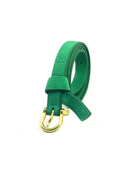 Sperry | חגורת עור הפוך ירוקה ספירי