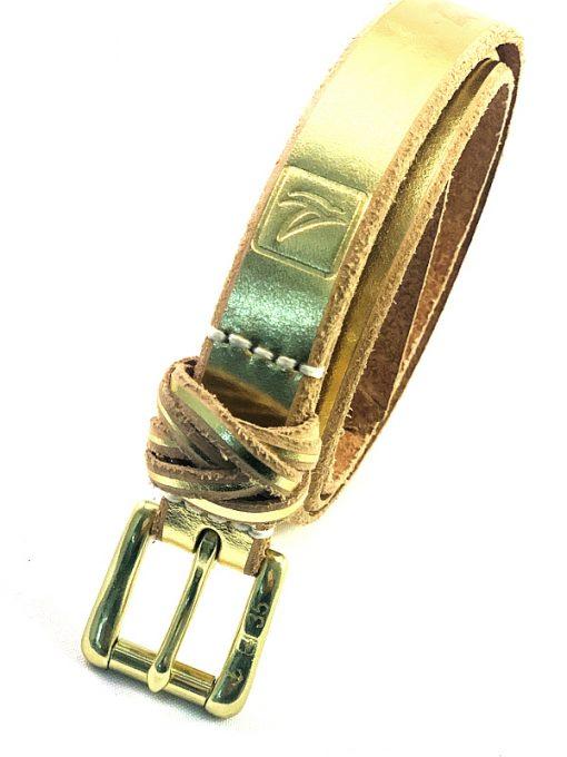 Sperry | חגורת עור זהב ספירי