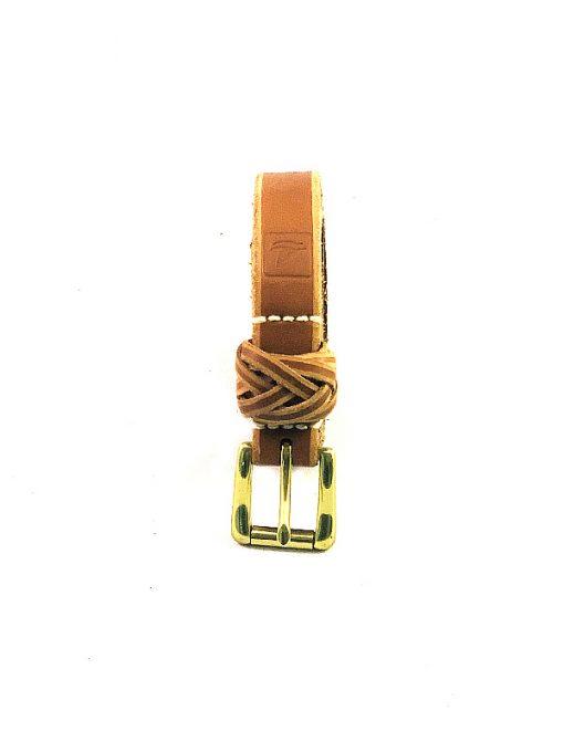 Sperry | חגורת עור חום/בז׳ ספירי