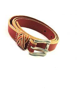 Sperry | חגורת עור חום/אדום ספירי