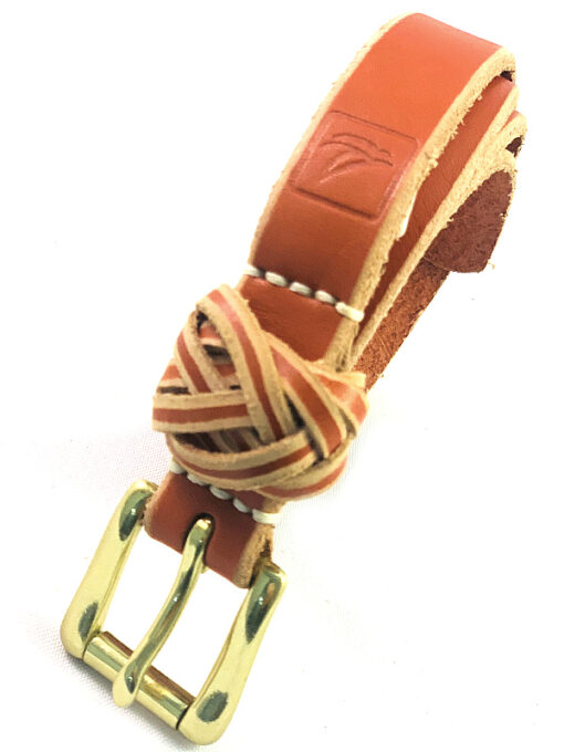 Sperry | חגורת עור חום/כתום ספירי