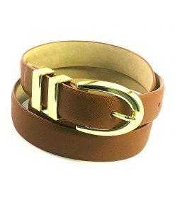 Style | חגורה חומה אבזם זהב סטייל