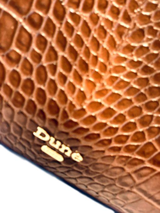 Dune London's | תיק קרוקו חום דיון לונדון