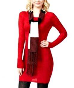 Energie | שמלת סריג אדומה וצעיף אנרג׳י