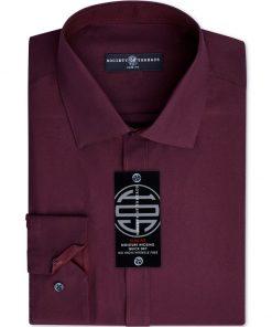 Society of Threads | חולצה מכופתרת בורדו סושיטי אוף טרידס