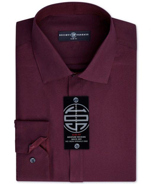 Society of Threads   חולצה מכופתרת בורדו סושיטי אוף טרידס