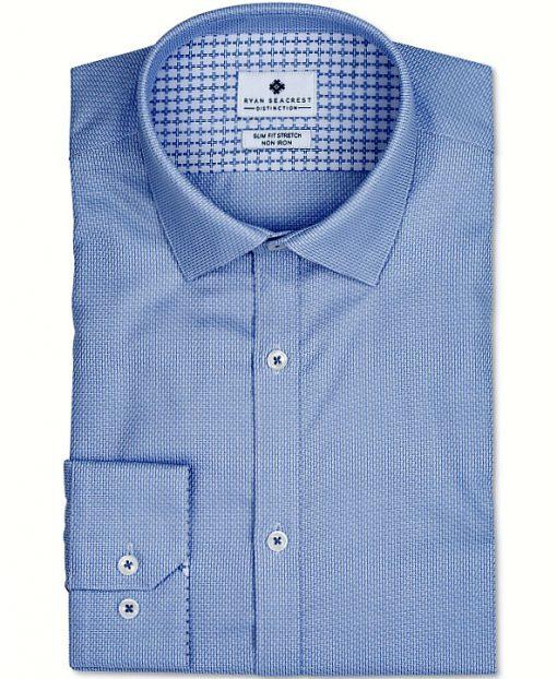 Ryan Seacrest | חולצה מכופתרת כחולה ראיין סיקרסט