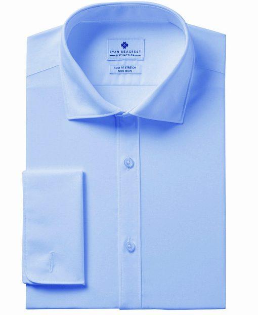 Ryan Seacrest | חולצה תכלת שרוול צרפתי ראיין סיקרסט