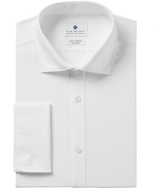 Ryan Seacrest | חולצה לבנה שרוול צרפתי ראיין סיקרסט