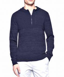 Calvin Klein | סוודר דק קפוצ׳ון כחול קלווין קליין