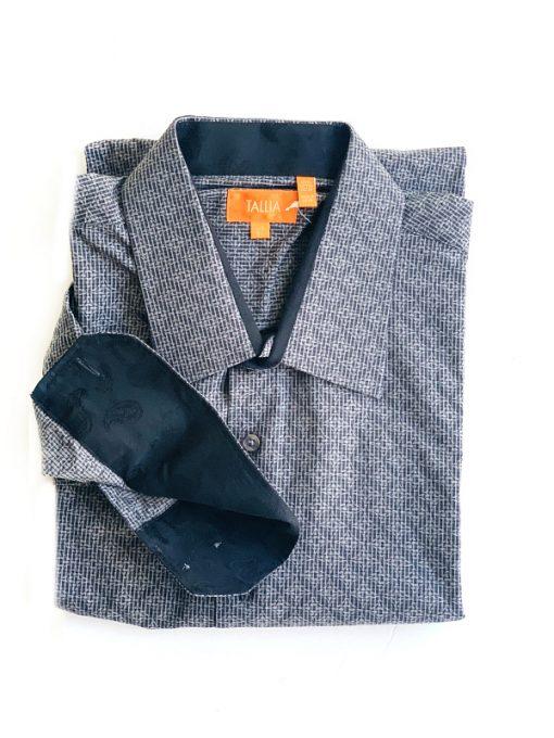 Thalia | חולצה מכופתרת אפורה טהליה