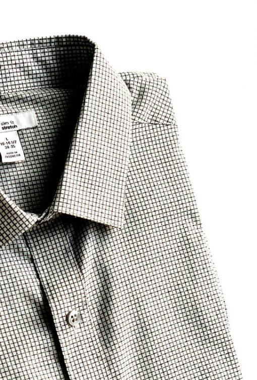 Bar   חולצה מכופתרת משבצות בר