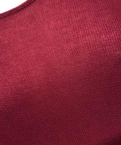 Bass | חולצת וופל אוברסייז בורדו בס