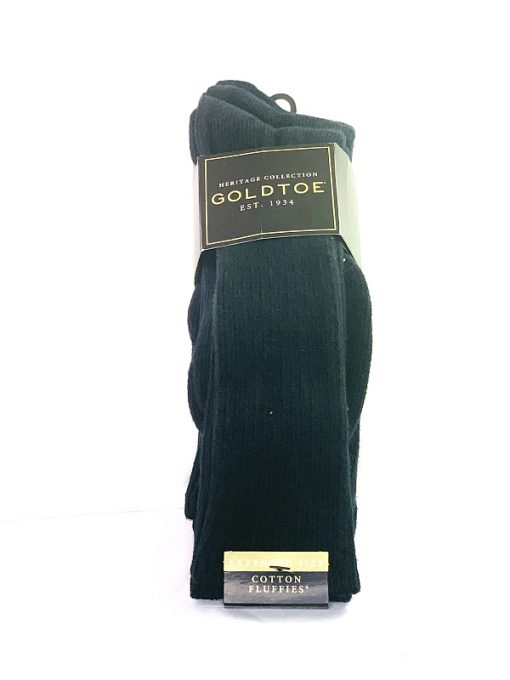 GoldToe   מארז 3 זוגות גרביים שחור גולדטוי