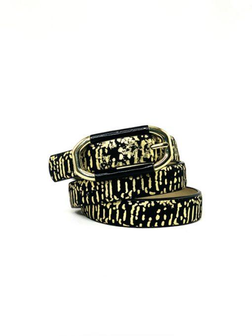 INC | חגורה שחור/זהב אייאנסי
