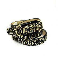 INC   חגורה שחור/זהב אייאנסי