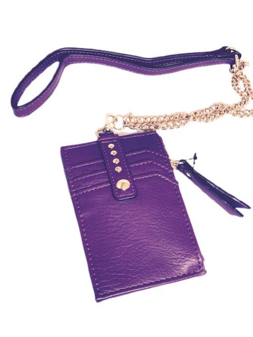 INC | ארנק כרטיסי אשראי סגול איאנסי