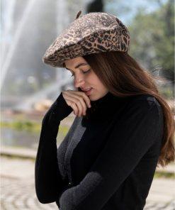 INC | כובע ברט מנומר איאנסי