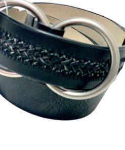 Style   חגורת ג׳ינס שחורה סטייל